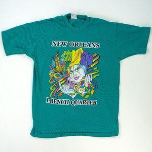 Vtg  New Orleans Mardi Gras French Quarter T Shirt